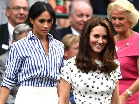 Kate Middleton e Meghan Markle vão juntas à final do torneio de Wimbledon, em Londres, neste sábado, 14 de julho de 2018