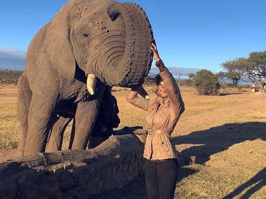 Grazi Massafera compartilhou fotos da viagem à África do Sul em seu Instagram, nesta segunda-feira, 16 de julho de 2018
