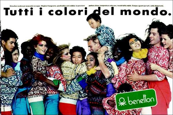 """""""All the colours in the world"""", outono-inverno 1984 - 'Todas as cores do mundo': a mistura de raças e culturas é um tema recorrente deste sempre no imaginário do fotógrafo e publicitário"""