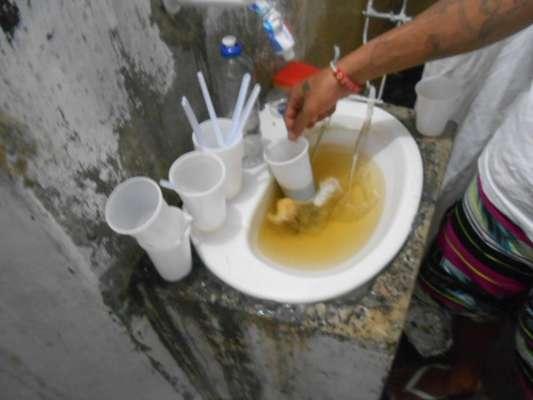 Pia usada por presos no CDP de Pinheiros