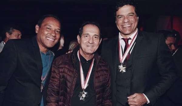 Muller, Muricy e Raí na festa do São Paulo