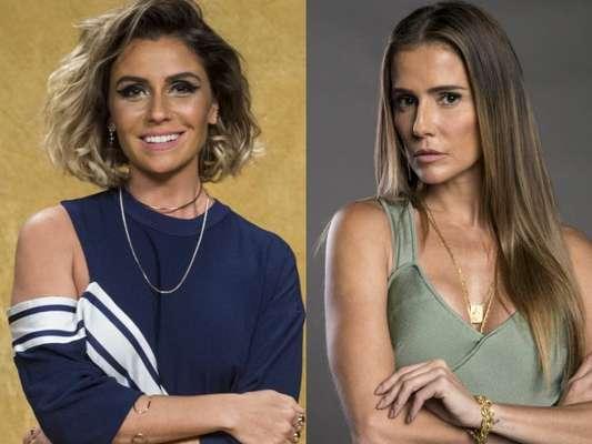 Em 'Segundo Sol', Luzia (Giovanna Antonelli) ameaça Karola (Deborah Secco) com faca ao descobrir que seu filho foi roubado após o nascimento
