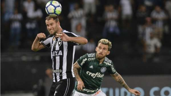Último encontro: Botafogo 1 x 1 Palmeiras - 1ª rodada do Brasileirão