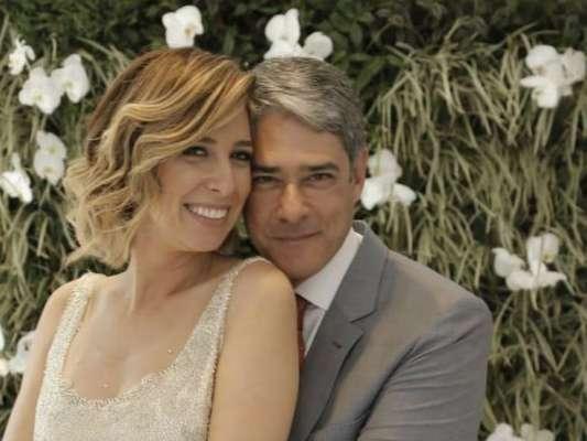 Natasha Dantas e William Bonner se casaram em São Paulo no último sábado, 8 de setembro de 2018