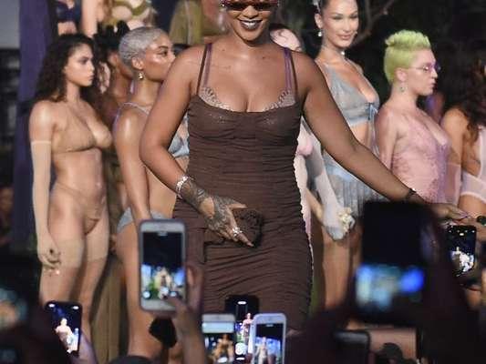 Savage X Fenty, a marca de Rihanna desfila na Semana de Moda de Nova York, que vai até sexta-feira, 14 de setembro de 2018
