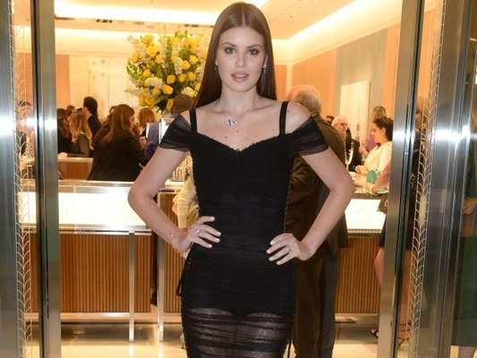Camila Queiroz prestigiou a inauguração da loja Tiffany & Co. no Shopping JK Iguatemi, em São Paulo, nesta quinta-feira, 13 de setembro de 2018