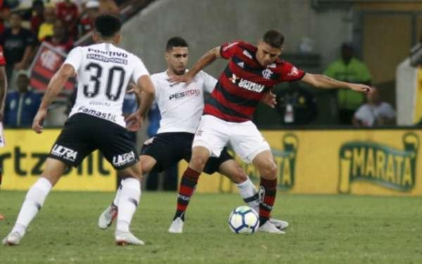 Último jogo (12/9/2018) - Flamengo 0x0 Corinthians - partida de ida da semifinal da Copa do Brasil