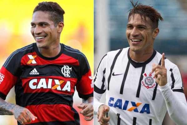 Guerrero foi o caso mais recente de jogadores que passaram por Corinthians e Flamengo. O peruano trocou o Timão pelo Rubro-Negro em 2015.
