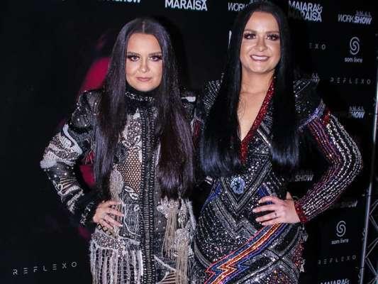 """Maiara e Maraisa gravaram o novo DVD, """"'Reflexo', no Espaço das Américas, em São Paulo, nesta terça-feira, 9 de outubro de 2018"""