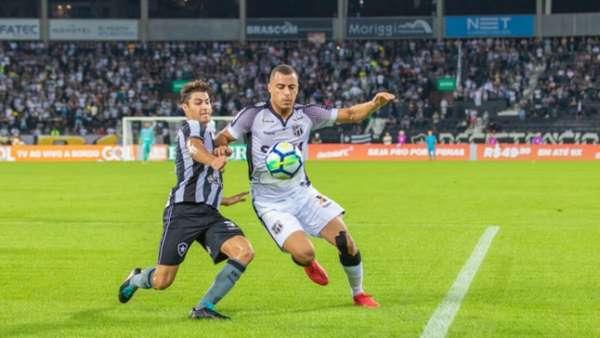 O último jogo entre Botafogo e Ceará terminou empatado em 0 a 0, na estreia de Lisca, no turno deste Brasileiro