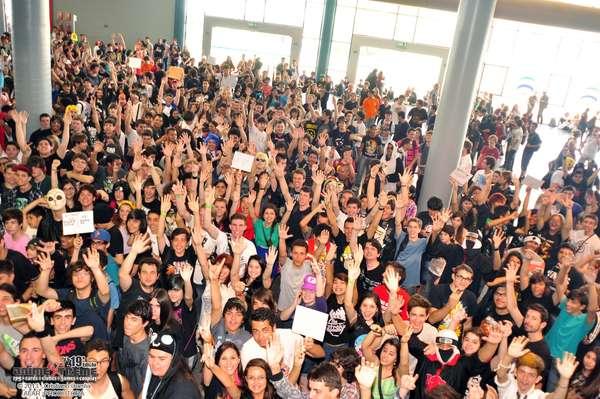 Concentração de visitantes na Animextreme de 2017