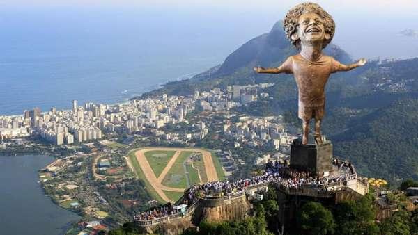 Memes brincam com estátua de Mohamed Salah