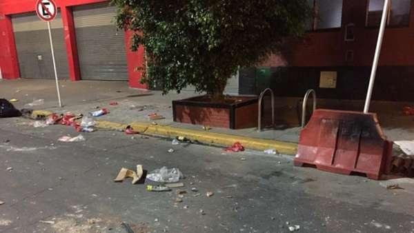 Torcida do River espalhou o caos pelas ruas de Buenos Aires