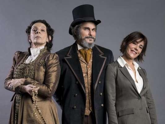 Carmen (Christiane Torloni) imita Agustina (Rosi Campos) e inventa que também está grávida de dom Sabino (Edson Celulari) nos próximos capítulos da novela 'O Tempo Não Para'