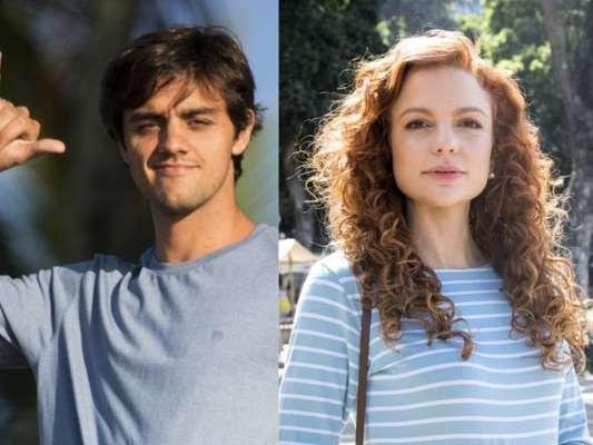 Miss Celine (Maria Eduarda de Carvalho) aceita pedido de casamento de Elmo (Felipe Simas) nos próximos capítulos da novela 'O Tempo Não Para': 'Decerto que sim!'