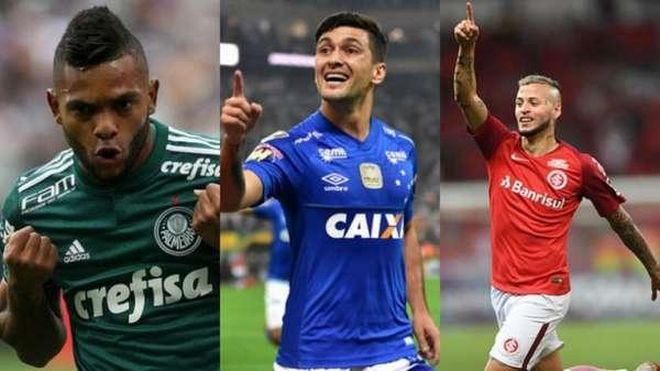 Ao todo, os jogadores estrangeiros anotaram 184 tentos em jogos oficiais por clubes de Série A na temporada 2018. Alguns, porém, tiveram destaque, como o colombiano Borja, do Palmeiras, o uruguaio Arrascaeta, do Cruzeiro e Nico López, do Internacional. Veja o top 15 na galeria a seguir