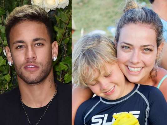 Neymar interage com a ex Carol Dantas em foto do filho, Davi Lucca, nesta terça-feira, dia 08 de janeiro de 2018