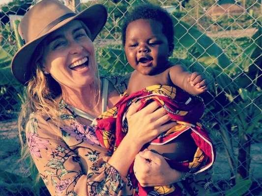 Angélica está curtindo férias na África do Sul