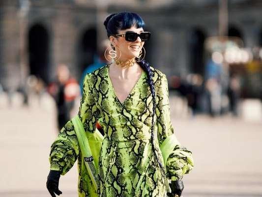 Paris Fashion Week Menswear: animal print + neon