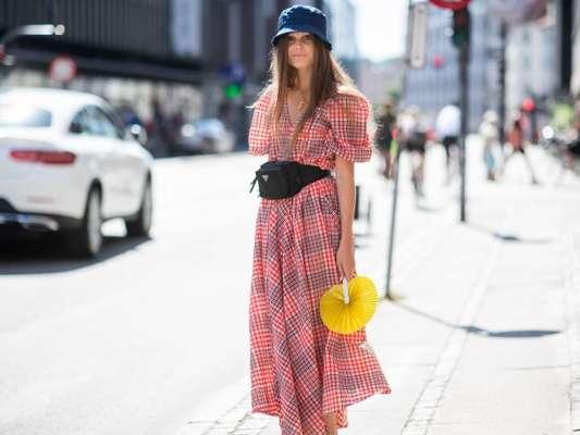 Pochete + vestido de verão
