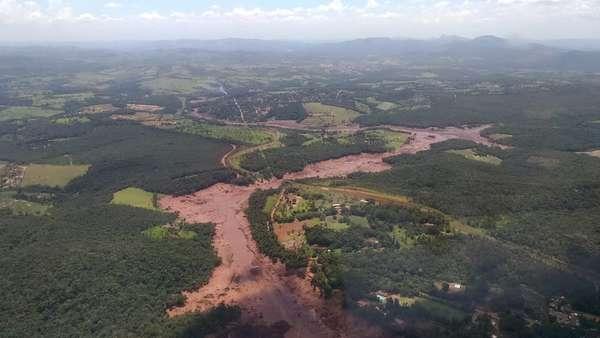 A barragem da mina do Feijão, situada na região de Brumadinho (MG), rompeu nesta sexta-feira (25).