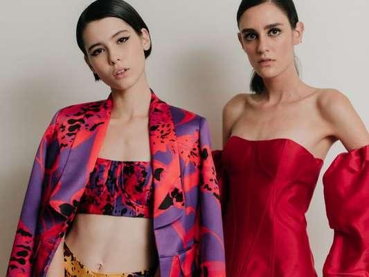 A marca Fátima Scofield apostou na alfaiataria em tons fortes, como vermelho e roxo, para a primavera/verão 2020