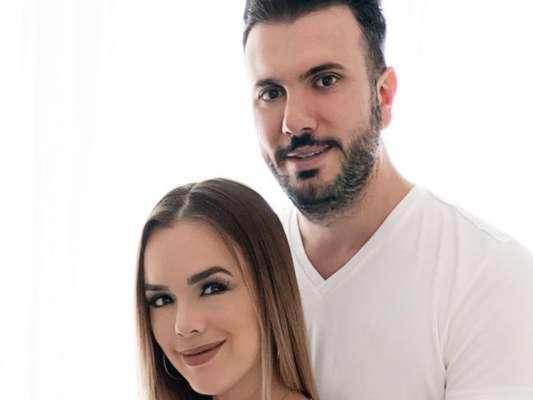 Thaeme Mariôto foi exaltado pelo marido, Fabio da Lua, por tentar parto normal por quase 40 horas: 'Grande mulher'