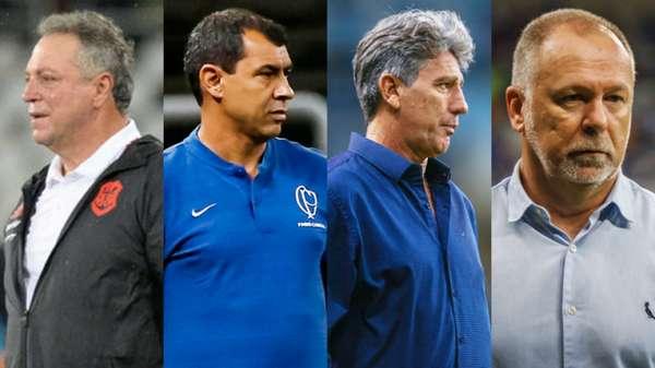 O Campeonato Brasileiro começa neste sábado e três clubes ainda não definiram quem será o seu comandante na competição. Atlético-MG e Vasco ainda não anunciaram seus novos treinadores, após demissões recentes. O L! mostra quem são os técnicos dos demais times.