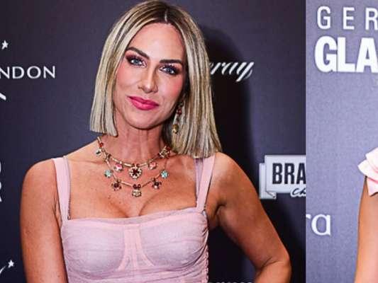 Giovanna Ewbank e Julia Konrad usam look e make rosa millennial em prêmio