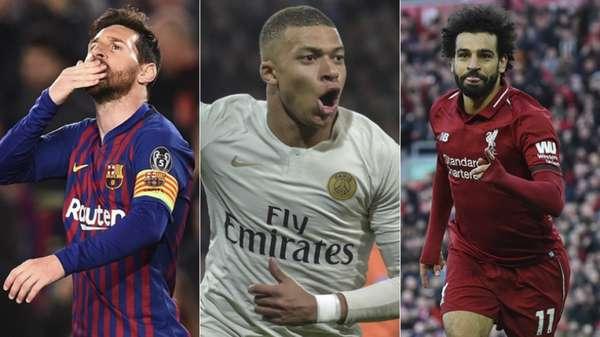 Messi, Mbappé e Salah estão na lista dos goleadores pela Europa