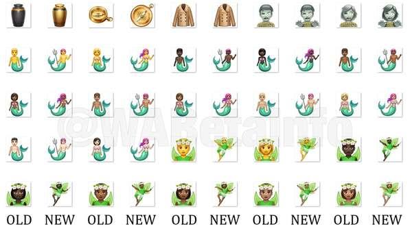 Mais de 150 emojis do WhatsApp ganharam um visual renovado