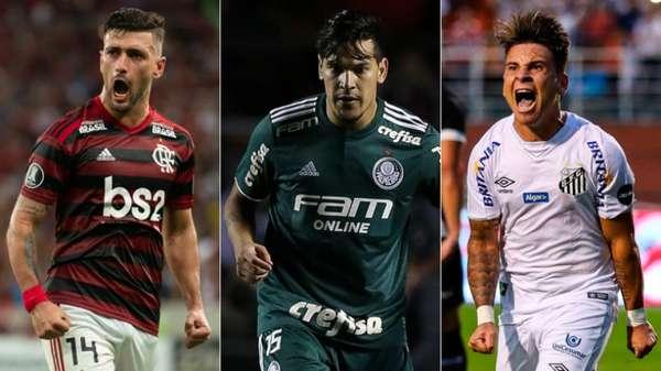 Arrascaeta, Gómez e Soteldo: nesta semana, as seleções que disputarão a Copa América serão convocadas e, com isso, alguns times brasileiros serão desfalcados em jogos no fim de maio e início de junho. O Santos, por exemplo, deve ter cinco jogadores chamados. Veja todos: