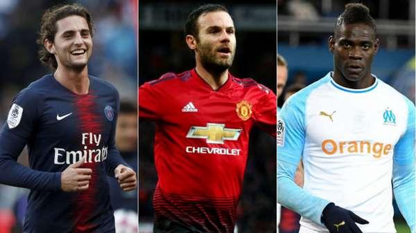 No dia 30 de junho, alguns jogadores consagrados e com mercado vão ficar disponíveis, caso não renovem seu contrato com seus respectivos clubes até lá, para negociar com qualquer equipe. É o caso de Adrien Rabiot (PSG), Juan Mata (Manchester United) e Mario Balotelli (Olympique de Marselha).