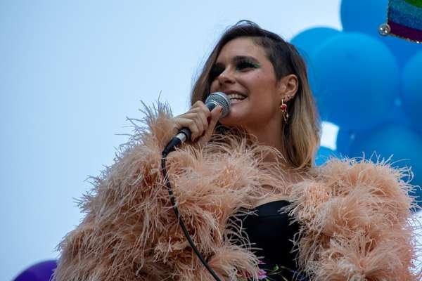 Grávida do seu terceiro filho, a modelo e apresentadora Fernanda Lima também esteve presente no evento deste domingo