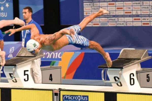 Marco Antônio Junior mergulha na final dos 100m livre na Universíade de Nápoles
