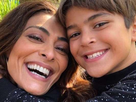 Semelhança de Juliana Paes e o filho Pedro surpreende fãs em foto nesta quarta-feira, dia 10 de julho de 2019
