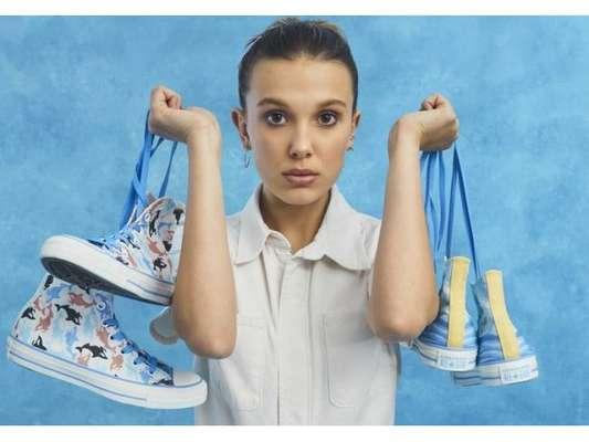 Millie Bobby Brown fecha parceria com a Converse e lança sua própria linha de tênis
