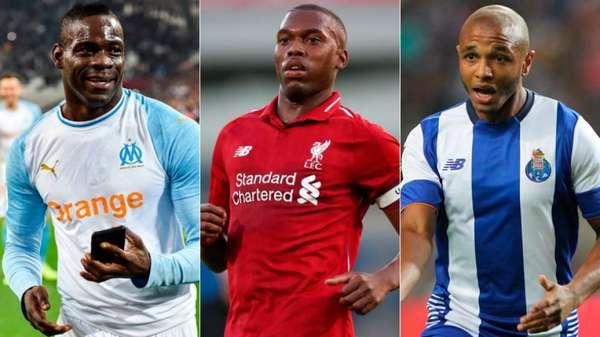 Alguns jogadores não renovaram seus contratos com seus clubes e estão disponíveis no mercado para negociação. A lista conta apenas com os jogadores mais valiosos, isto é, os que tem o maior valor de mercado. Brahimi, Balotelli e Sturridge são alguns nomes.