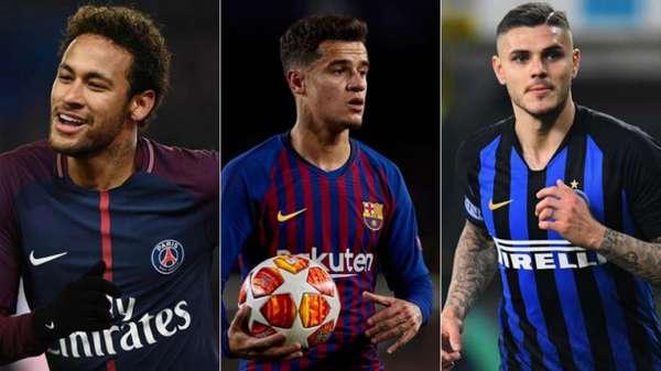 Neymar, Coutinho e Icardi movimentaram o vaivém desta sexta-feira na Europa: