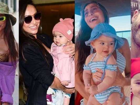 Confira os looks de Zoe, filha de Sabrina Sato e Duda Nagle, em 1ª viagem internacional em Barcelona, na Europa