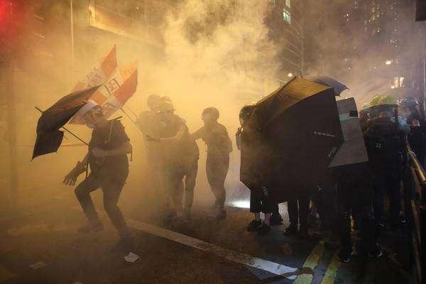 Manifestação pró-democracia em Hong Kong