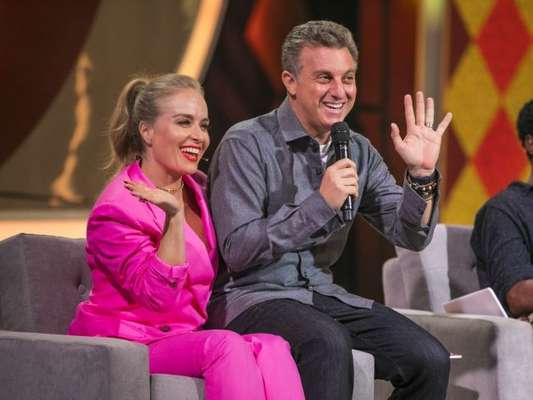 Angélica dá bronca em Luciano Huck durante participação no 'Caldeirão do Huck', em 3 de agosto de 2019