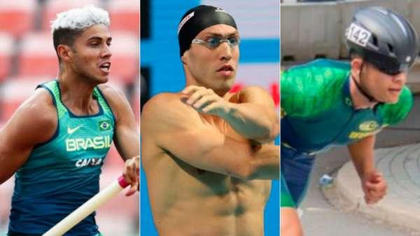 Thiago Braz, do salto com vara, Guilherme Guido, na natação, e Gabriel Félix, na patinação de velocidade, são algumas das chances de medalhas neste sábado.