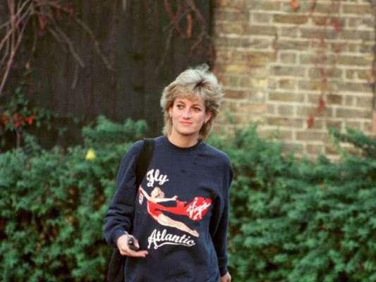Moletom e biker shorts: a combinação era queridinha da Princesa Diana na hora de praticar exercícios físicos