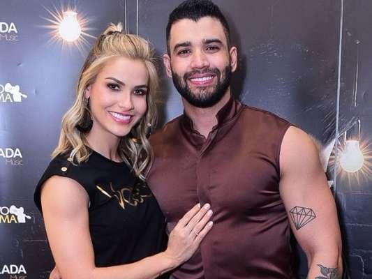 Andressa Suita marcou presença no show do marido, Gusttavo Lima, neste sábado, 14 de setembro de 2019