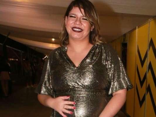 Barriga de gravidez de Marília Mendonça foi destaque em foto na web nesta terça-feira, 17 de setembro de 2019