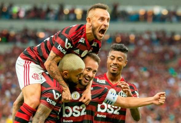 42 GOLS - Flamengo, em 2019, teve o melhor ataque do primeiro turno do Brasileirão