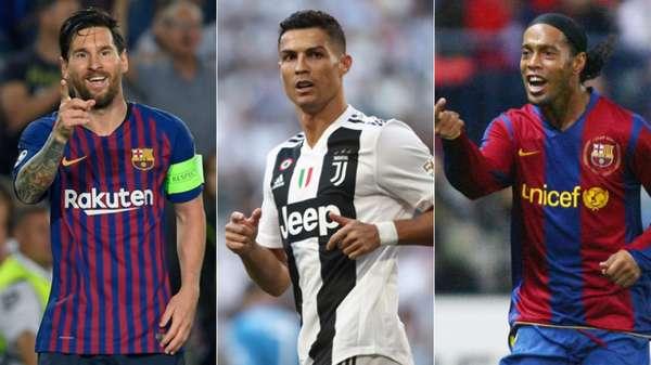 Nesta segunda-feira, o prêmio 'Fifa The Best' deu o sexto título de melhor jogador do mundo para Lionel Messi, que agora lidera isolado como jogador que mais vezes venceu a premiação. Relembre todos os jogadores que já conquistaram o prêmio de melhor do mundo, incluindo o prêmio Bola de Ouro, da revista France Football.