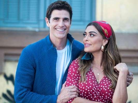 Maria da Paz (Juliana Paes) se encanta com atitude de Régis (Reynaldo Gianecchini) na novela 'A Dona do Pedaço'