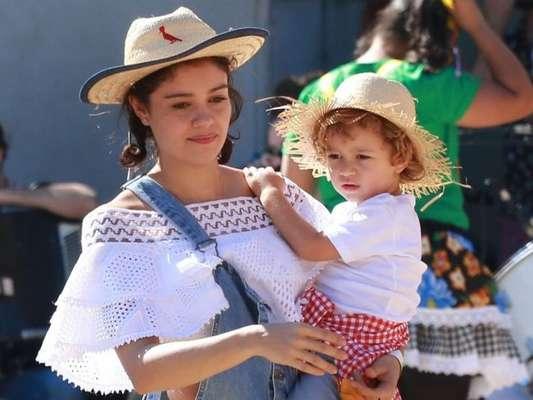 Sophie Charlotte é comparada com o filho, Otto, de 3 anos em foto nesta quarta-feira, dia 09 de outubro de 2019